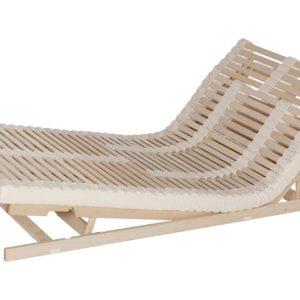 Das Lamellensystem Naurflex bringt Ihnen Entspannung. Ausführung: Sitz-Fußhochstellung