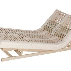 Das Lamellensystem Naturform hat eine hohe Einsinktiefe bis 90 mm. Ausführung: Sitz-Fußhochstellung