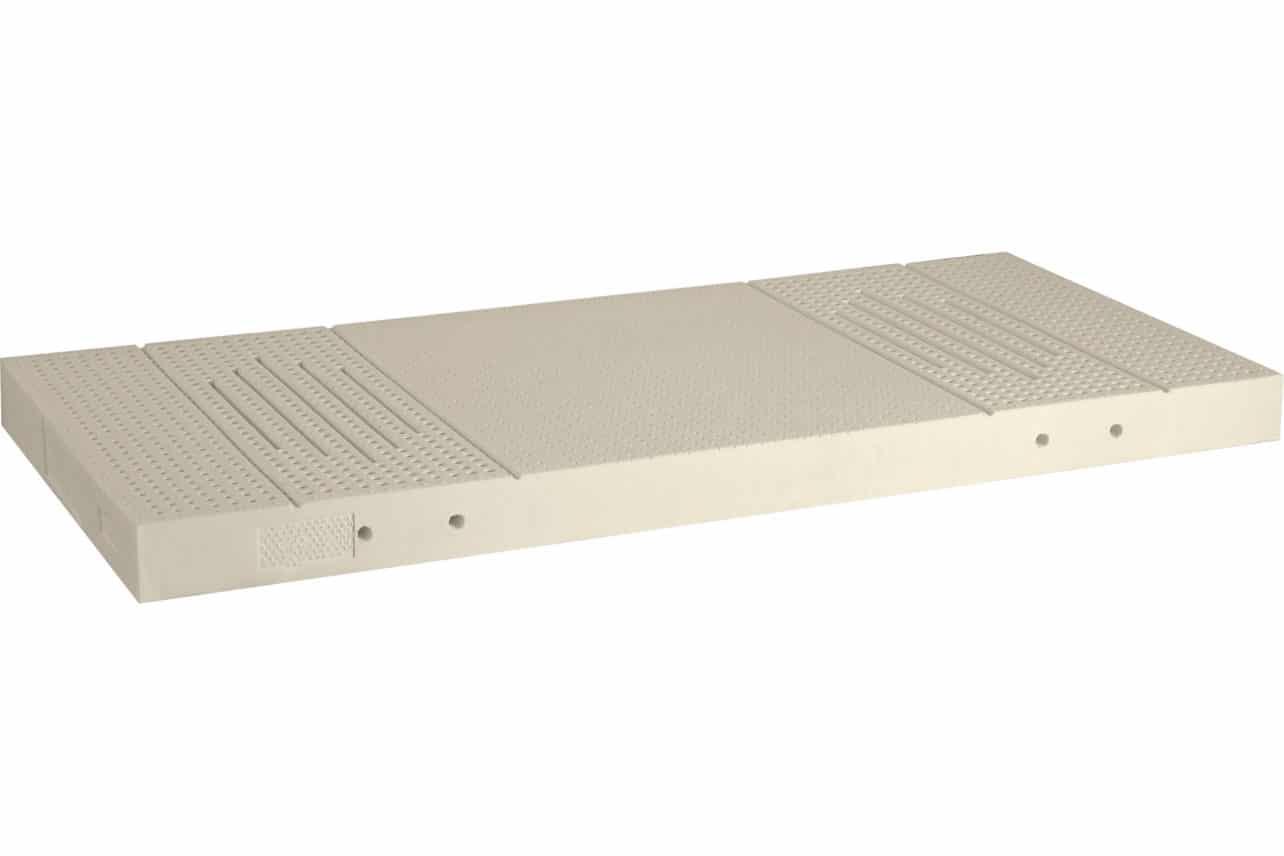 Naturmatratze 5-Zonen aus 100%igem Naturlatex in mittelfester und fester Ausführung, Höhe mit Bezug 14 cm