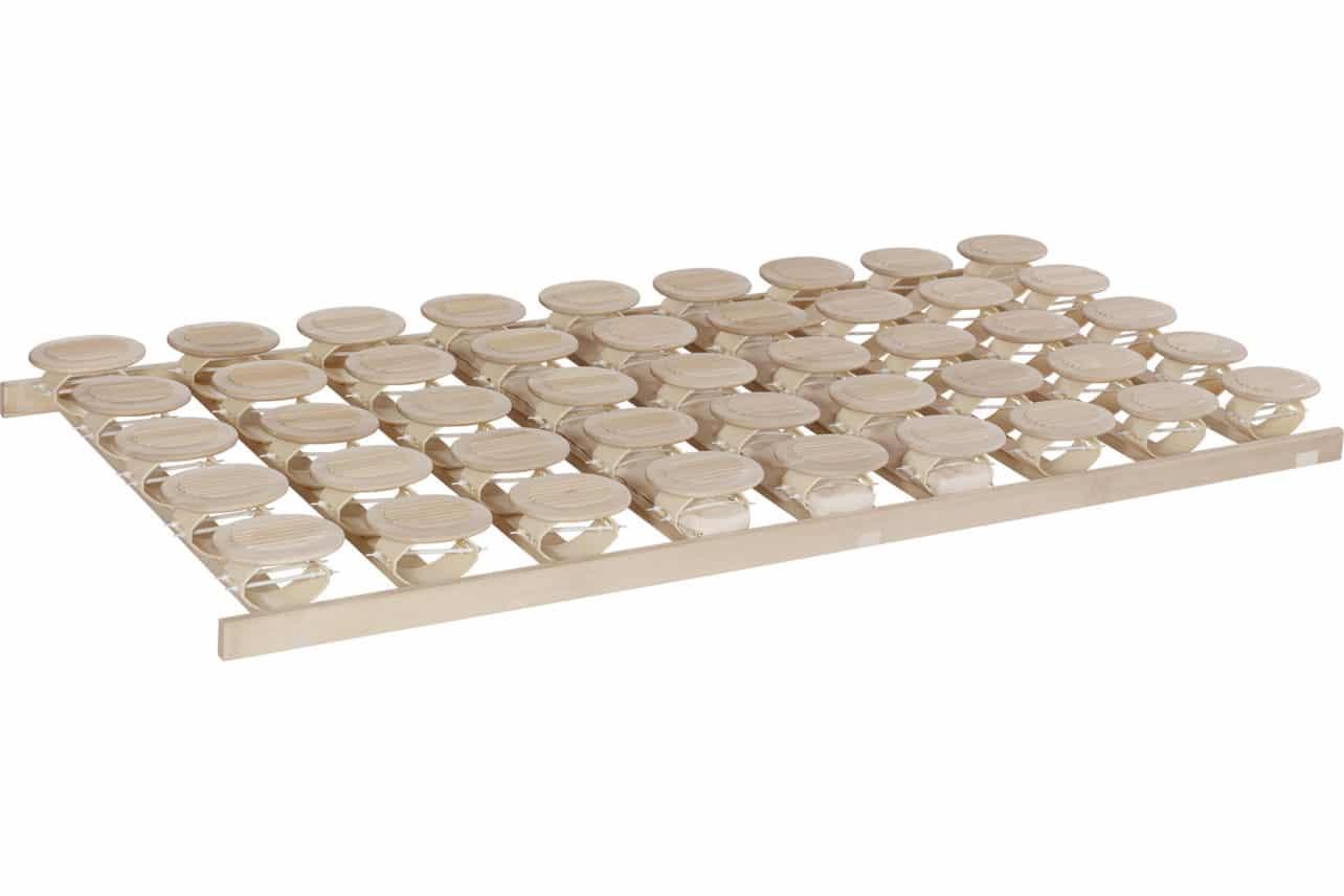Schlafsystem Relax 2000 mit individueller Körperanpassung durch tellerförmige Federkörper aus Zirbenholz oder Buche. Starr.
