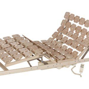 Schlafsystem Relax 3000 mit individueller Körperanpassung durch tellerförmige Federkörper aus Buche. Mit Motorrahmen.