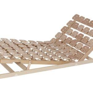 Schlafsystem Relax 3000 mit individueller Körperanpassung durch tellerförmige Federkörper aus Buche. Mit Sitz- und Fußhochstellung