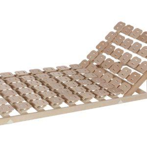 Schlafsystem Relax 3000 mit individueller Körperanpassung durch tellerförmige Federkörper aus Buche. Mit Sitzhochstellung.