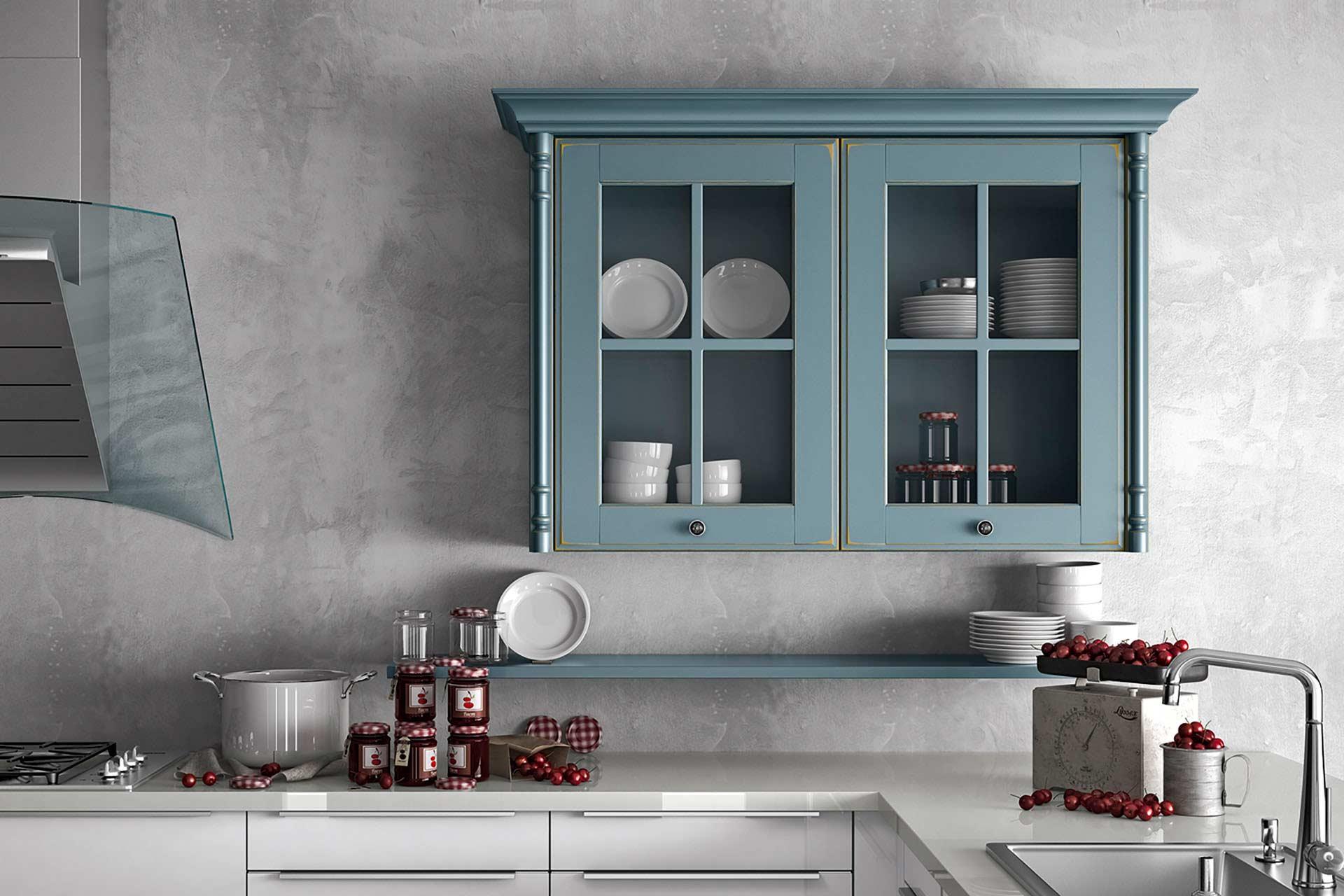 Hängeschrank Grau Küche. Küche Türkis Kleine Mehr Arbeitsfläche ...