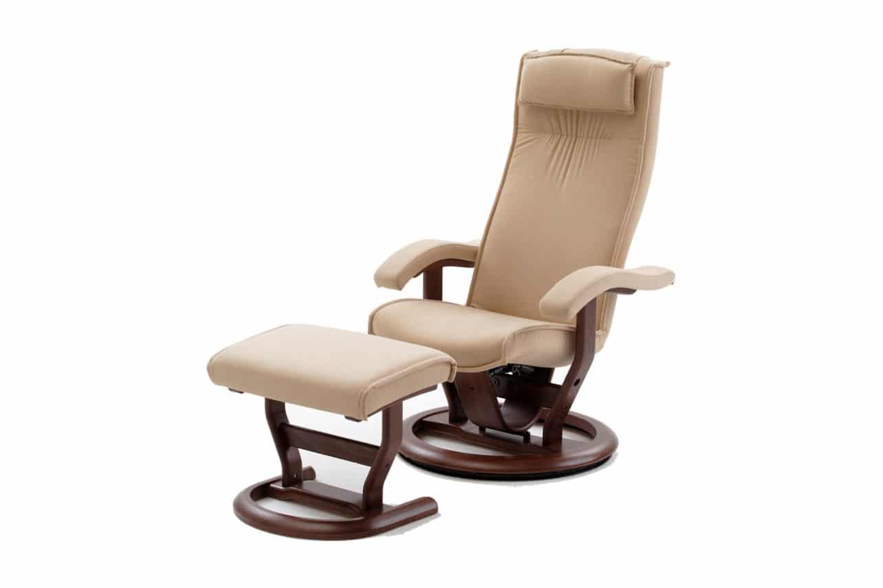 Entspannungssessel M14, offener Fußteller, Standardpolsterung, stufenlos einstellbare Kopfstütze