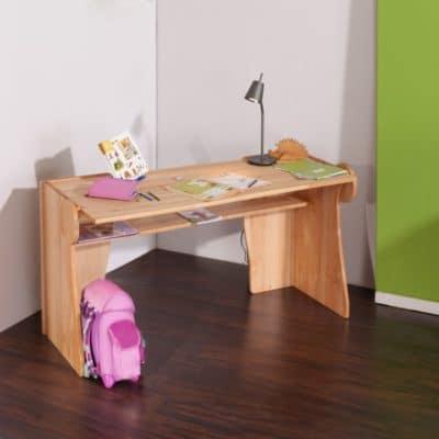 Massivholz Schreibtisch BeneVita Triline aus Erlenholz