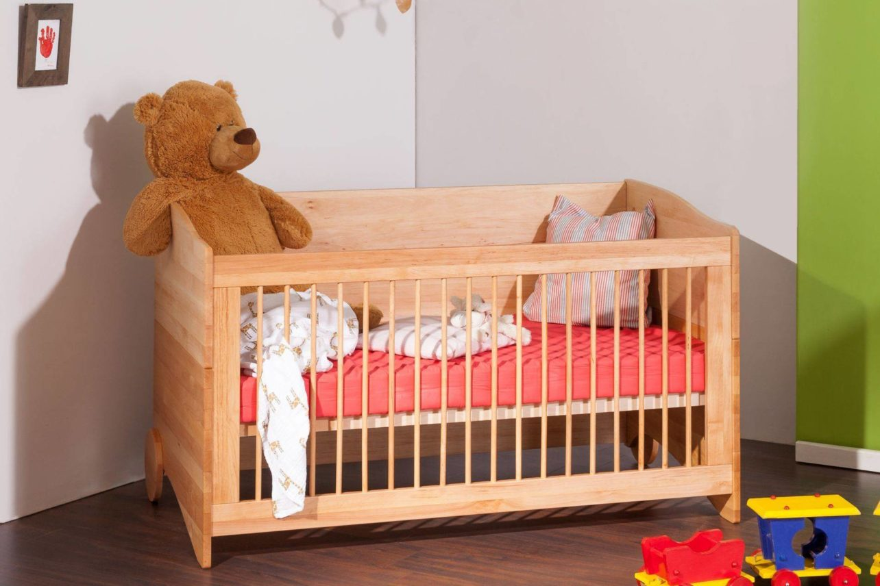 Kinderbettchen BeneVita mit Umbaufunktionen, massives Erlenholz