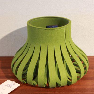 Filz-Vase grün