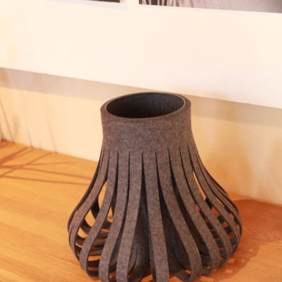 Filz-Vase grau