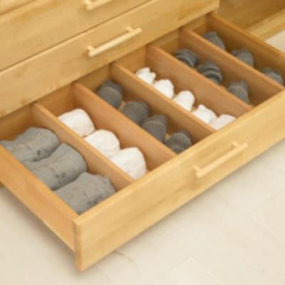 Schrankschublade mit Fächern für Unterwäsche, Strümpfe, etc.