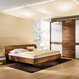 Schlafzimmer Rio mit Glas in Astnuss