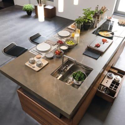 Höhenverstellbare Kochinsel der Küche K7