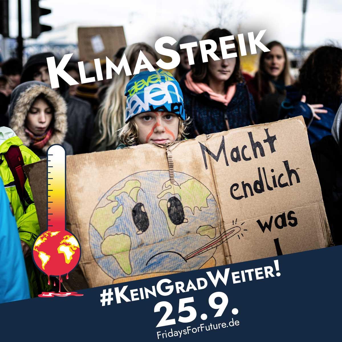 Klimastreik am 25.09!